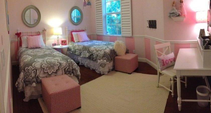 Pink Gray Girls Room Contemporary Kids Other