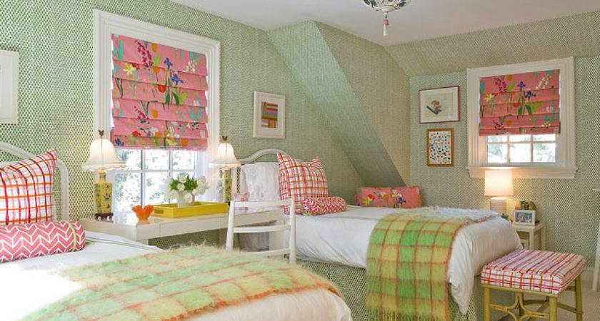 Pink Green Room Design Ideas