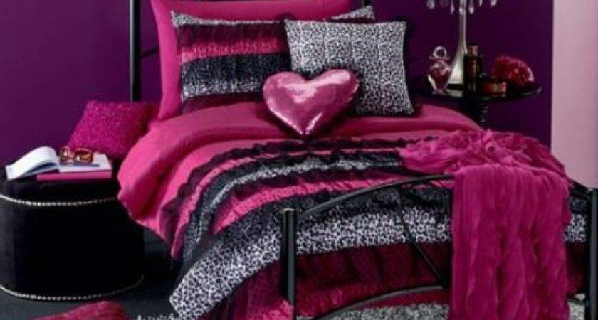 Pink Leopard Print Bedroom Accessories Interior