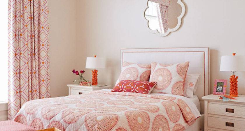 Pink Orange Girl Room Contemporary