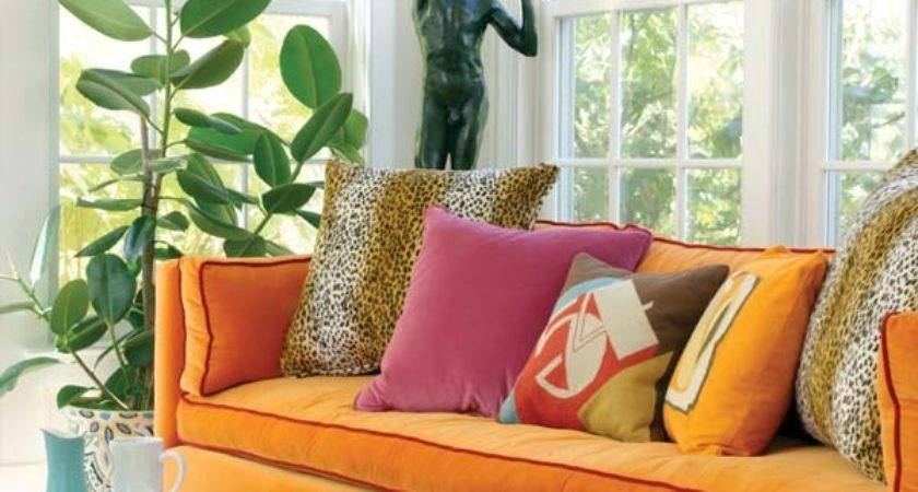 Pink Orange Living Room Design Ideas