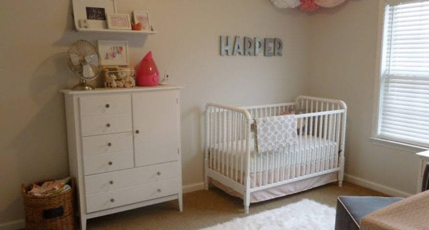 Pink Peach Girls Nursery Design Dazzle