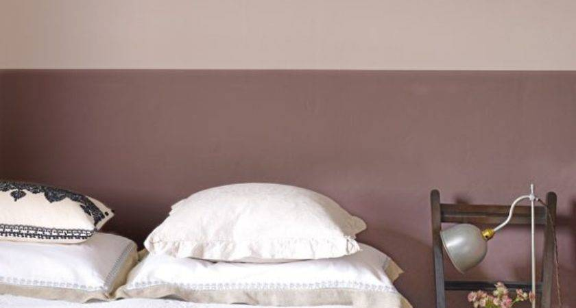 Pink Silver Bedroom Ideas Two Tone Paint Walls