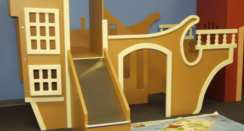 Pirate Ship Indoor Playhouse Simple Slide