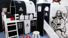 Pirate Theme Midsleeper Bed Slide Bedroom Furniture