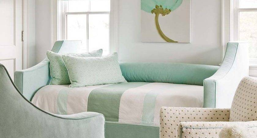 Pistachio Green Bedroom Transitional Sitting Area