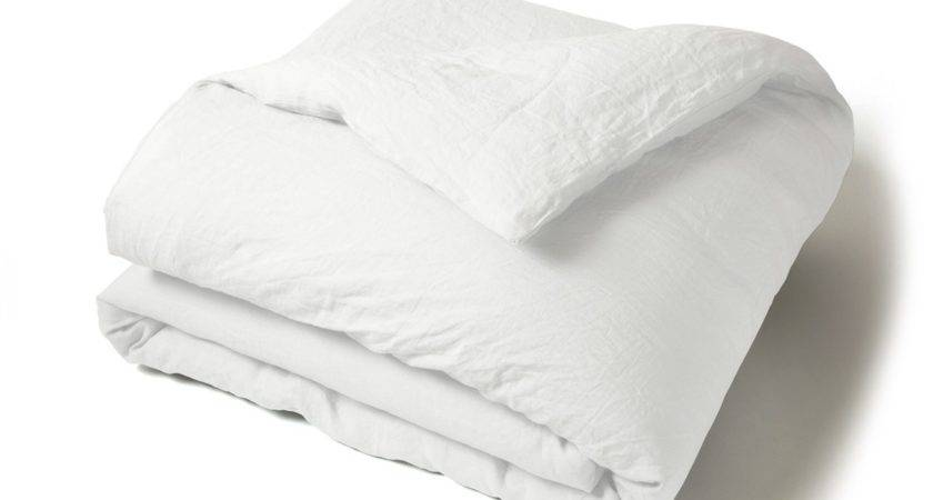 Plain Washed Linen Duvet Cover French House