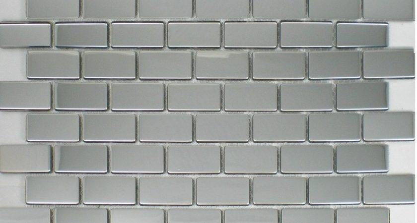 Polish Silver Metallic Mosaic Tile Backsplash Smmt