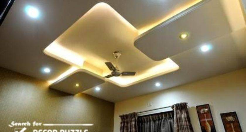 Pop Designs Roof False Ceiling Led Lights Living Room Homes Decor