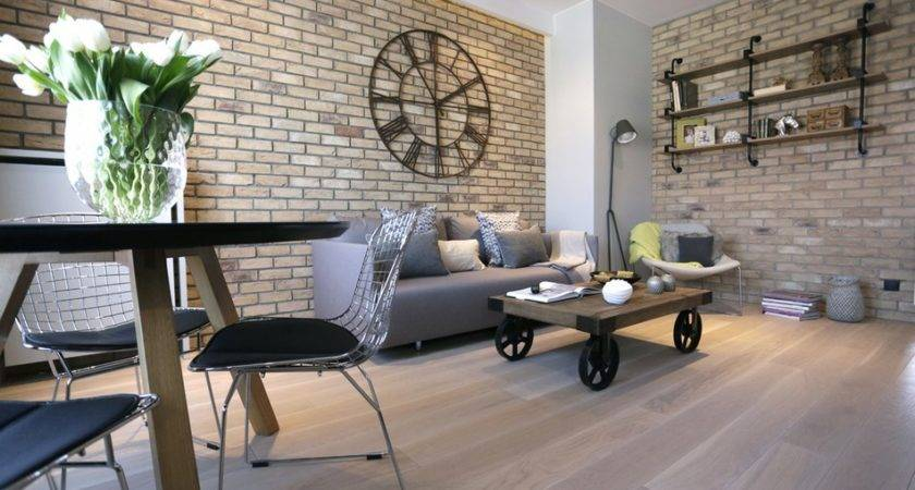 Post Industrial Apartment Warsaw Exhibiting Clean