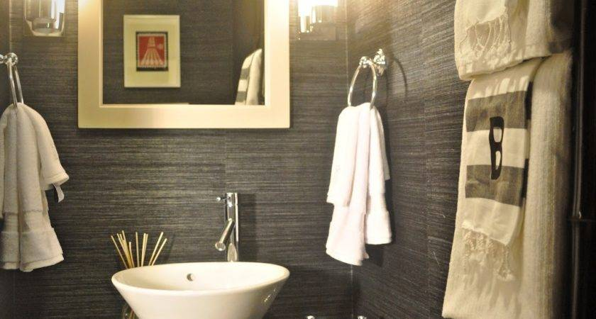 Powder Room Design Ideas Grasscloth