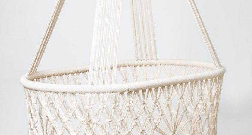 Preorder Hanging Swinging Baby Cradle Macrame Oval Shape