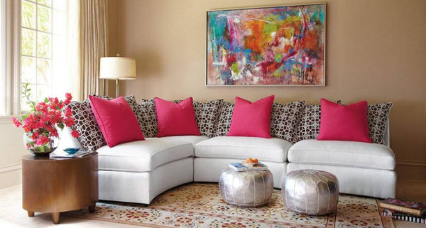 Pretty Pink Living Room Designs Home Design Lover
