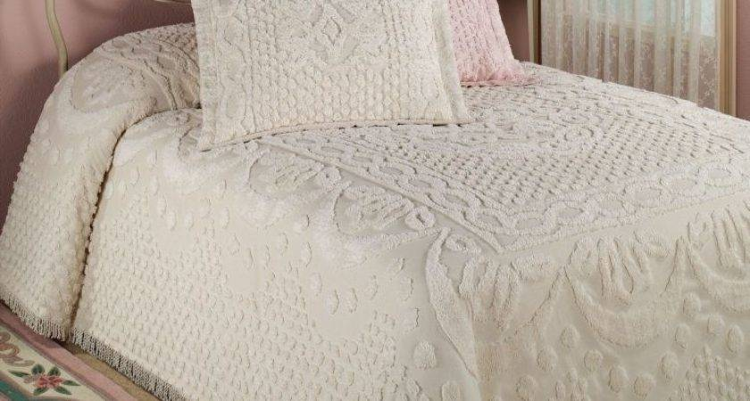Pretty Warm Vintage Chenille Bedding Set Atzine