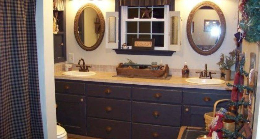 Primitive Bathroom Decor Designs Ideas