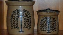 Primitive Ceramic Cookie Jars Willow Tree Pottery