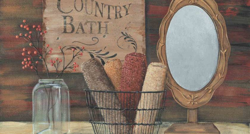 Primitive Country Bathroom Wall Decor