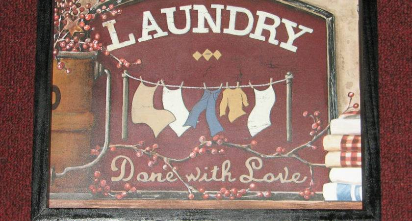 Primitive Country Laundry Room Wall Decor Inches