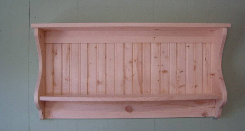 Primitive Country Shelf Plate Rack Unfinished