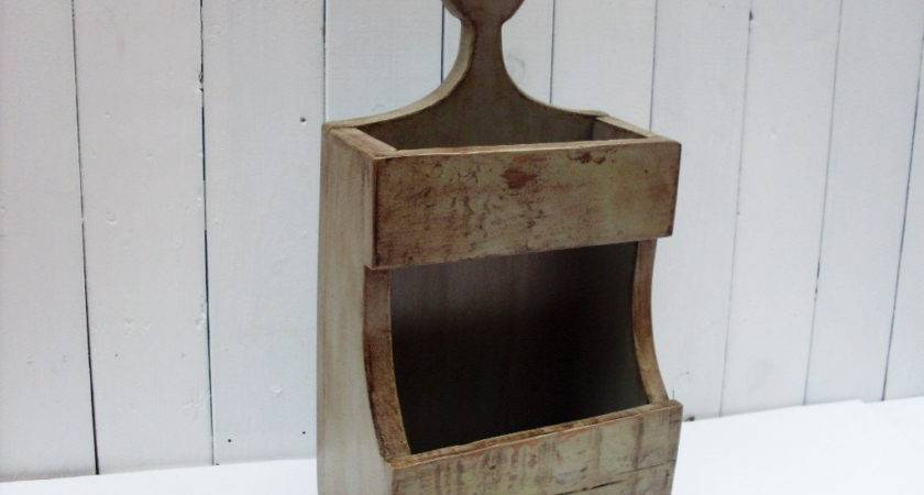 Primitive Double Wooden Candle Holder