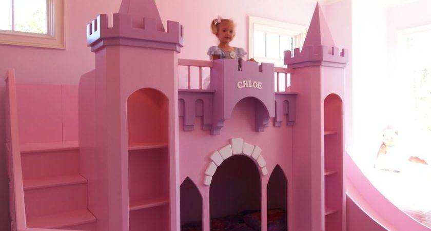 Princess Chloe Castle Loft Bunk Bed Indoor Playhouse