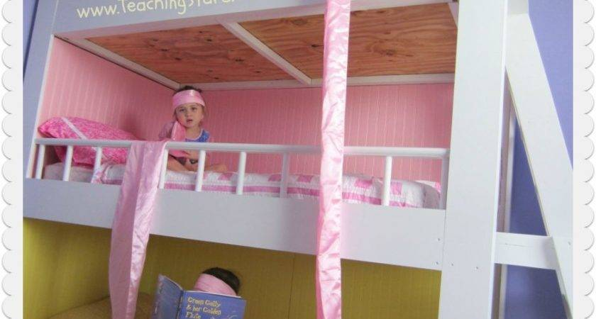 Princess Loft Bed Pink Bunk Slide