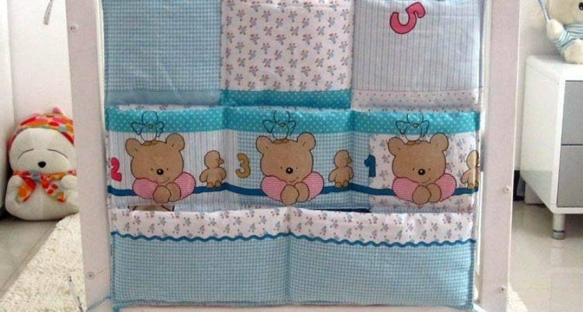 Promotion Kitty Mickey Diapers Organizer Baby Bed Hanging