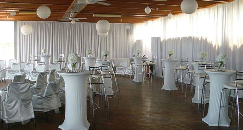 Pub Table Decorating Ideas All White Theme Party