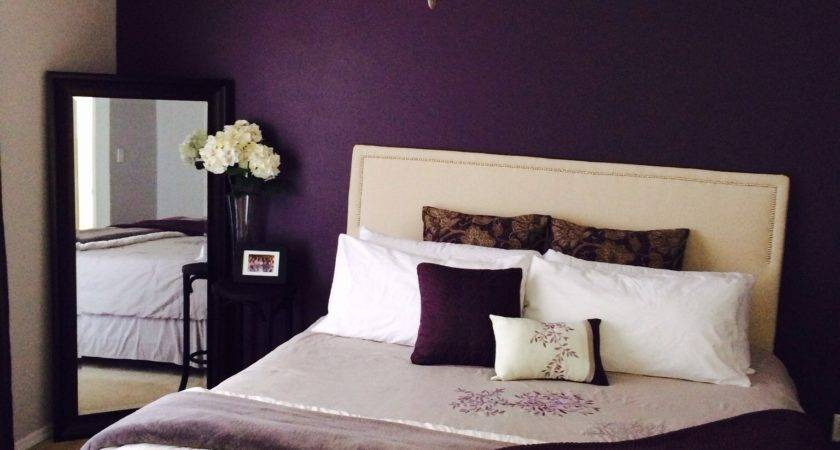 Purple Bedroom Feature Wall Scifihits