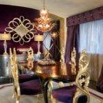 Purple Black Gold Living Room Pottery Barn