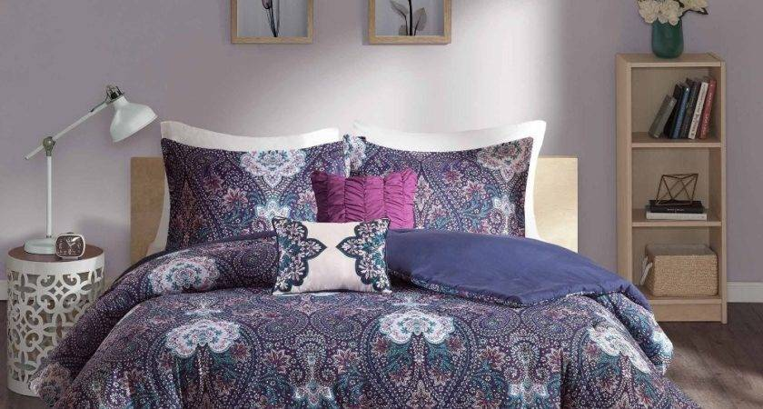 Purple Blue Bedding Sets Decor Ideas
