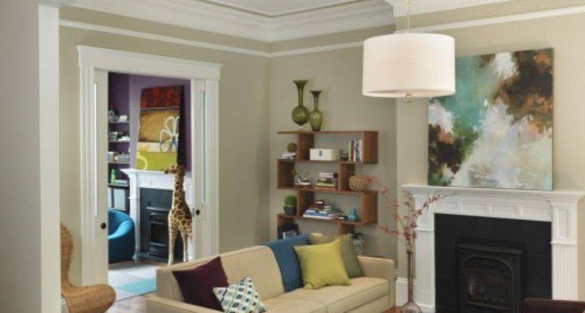 Purple Brown Living Room Transitional
