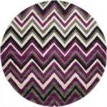 Purple Chevron Round Rug Area Rugs Esalerugs