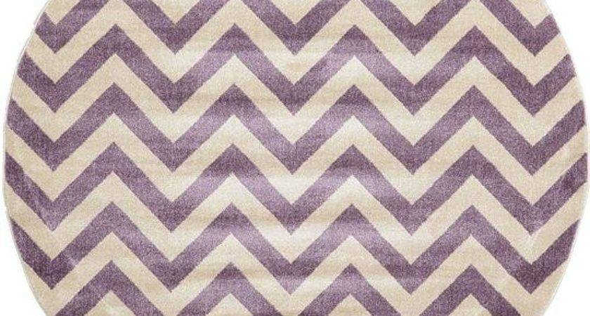 Purple Chevron Round Rug Area Rugs
