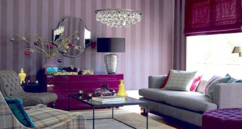 Purple Feature Wall Living Room Ideas Nakicphotography