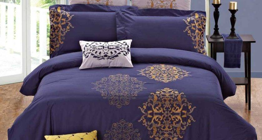 Purple Gold Comforter Sets Home Staging Accessories