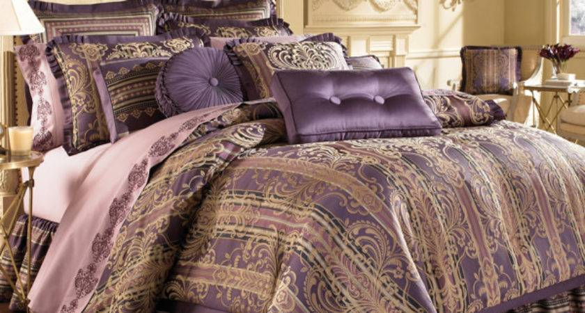 Purple Gold Comforter Sets