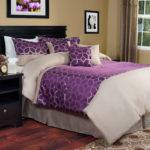 Purple Gold Geometric Moroccan Print Bedding Set