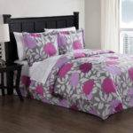 Purple Graphic Floral Comforter Set Rosenberryrooms