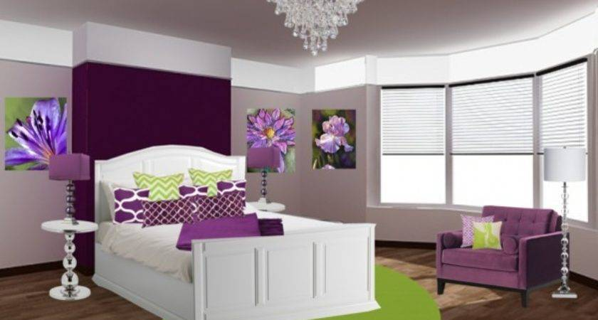 Purple Green Bedroom Polyvore