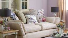 Purple Living Room Floral Soft Furnishings