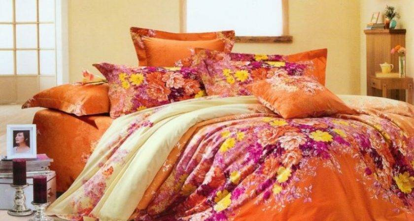 Purple Orange Bedding Sets Car Interior Design