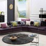 Purple Sofa Cushions Modern Living Room Rug