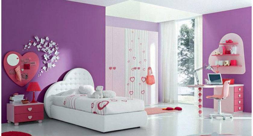 Purple Teen Bedroom Paint Colors Design Interior