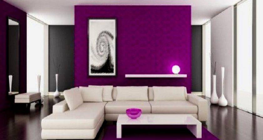 Purple White Living Room Ideas Modern House
