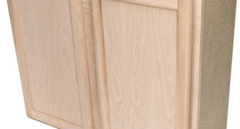Quality One Unfinished Oak Standard Wall Cabinet
