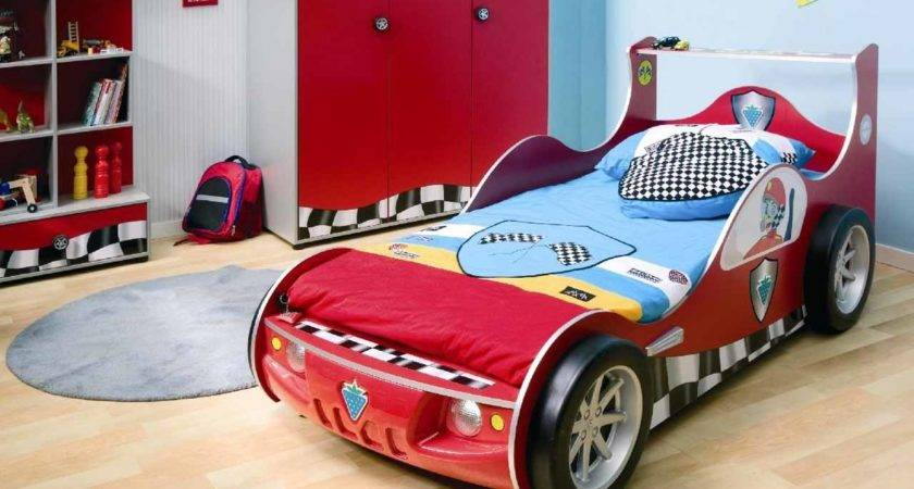Race Car Themed Boys Room Blue Red Storage