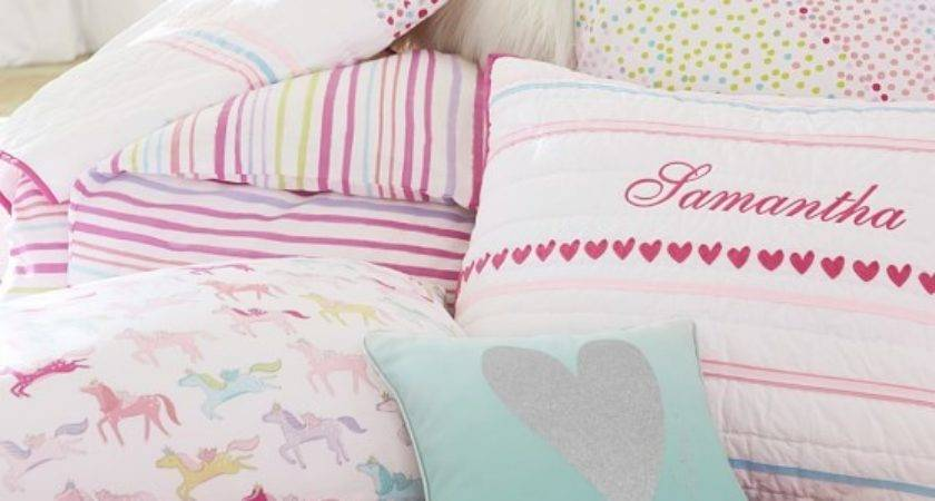 Rainbow Quilted Bedding Pottery Barn Kids