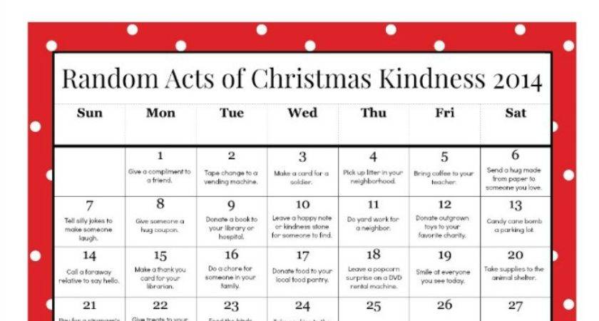 Random Acts Christmas Kindness Printable Advent Calendar