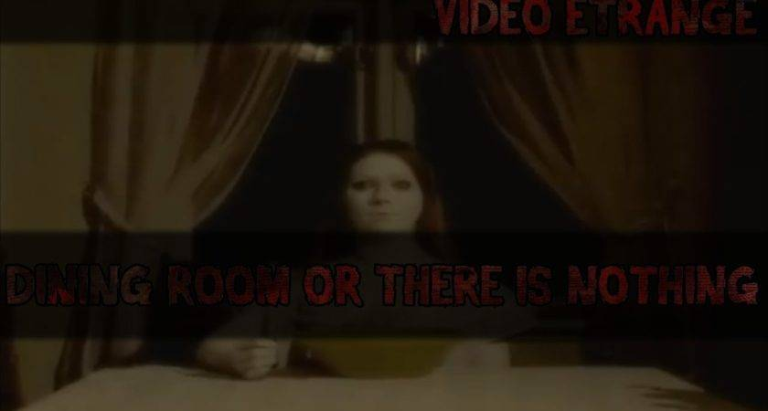 React There Nothing Dining Room Scary Video